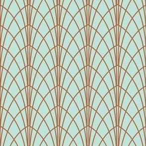 Arcada - Modern Geometric Mint & Copper Regular Scale