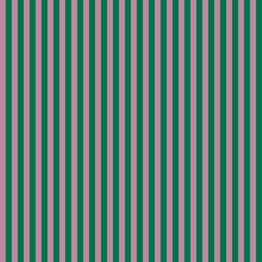 summer stripes berry and dark green