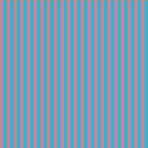 summer stripes berry and  turquoise blue