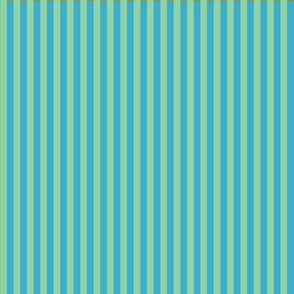 summer stripes light green and  turquoise blue