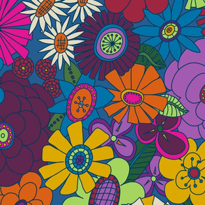 Moody Moddy-Mod Floral - JUMBO scale
