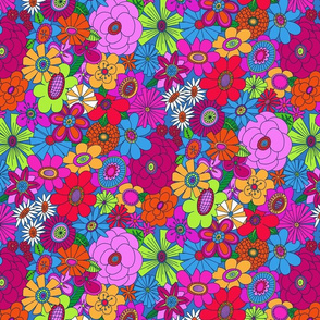 Brighter Moddy-Mod Floral - SMALL scale