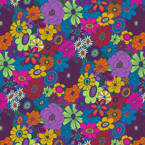 Moody Moddy-Mod Floral  - SMALL scale