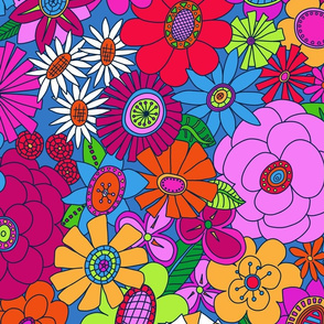Brighter Moddy-Mod Floral - LARGE scale