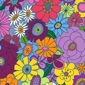 Mellower Moddy-Mod Floral - LARGE scale