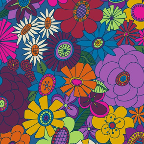 Moody Moddy-Mod Floral  - LARGE scale