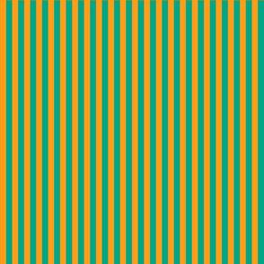 summer stripes orange turquoise