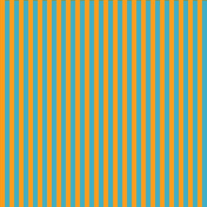 summer stripes orange and  turquoise blue