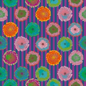 summer flowers love dark blue and purple stripes