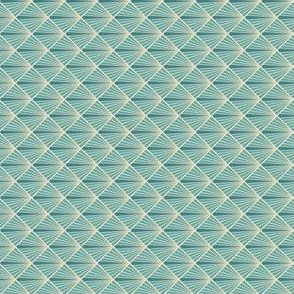 Art Deco Fans - Turquoise - Micro - ROTATED