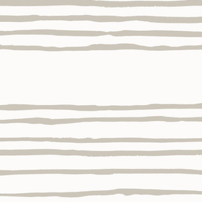 Giant Revere Pewter on Cream Painted Stripes