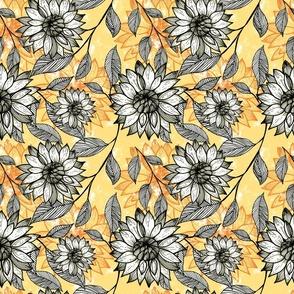 Spring Blooms - Peach Hero - Yellow