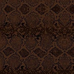 Snake skin abstract boho texture animal skin wild jungle design chocolate brown black