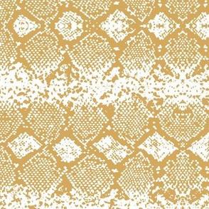 Snake skin abstract boho texture animal skin wild jungle design mustard ochre yellow on white