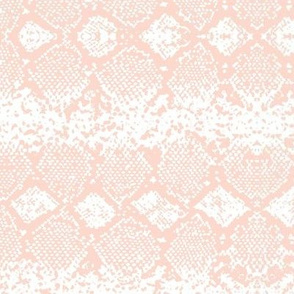 Snake skin abstract boho texture animal skin wild jungle design blush coral pink on white