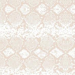 Snake skin abstract boho texture animal skin wild jungle design soft sand beige on white