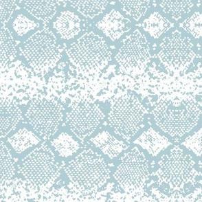 Snake skin abstract boho texture animal skin wild jungle design soft blue on white