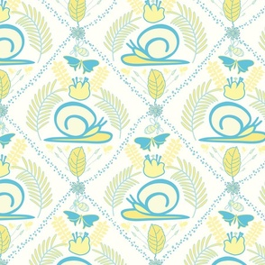 Pink Coneflowers on Blue