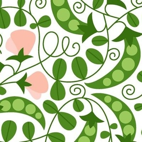 Blooming peas (large scale)