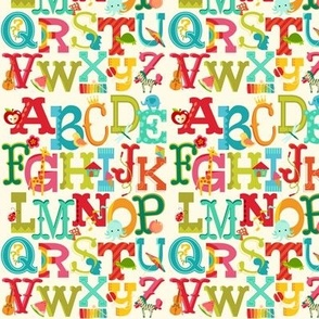 Alphabet Whimsy Vintage Palette SMALL