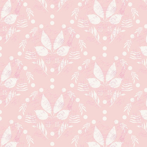 Scallop on soft pink - large scale