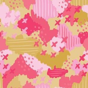 Cotton Candy Dash_Mustard_Laura Wayne Design