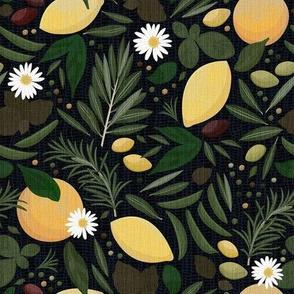 Mediterranean Garden - Dark Green / Medium
