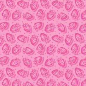 Small_Strawberries-Soft Pink_Laura Wayne Design