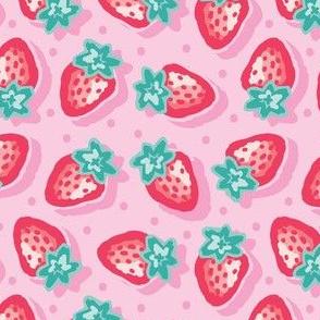 Medium_Strawberries_Light and colourful_Laura Wayne Design