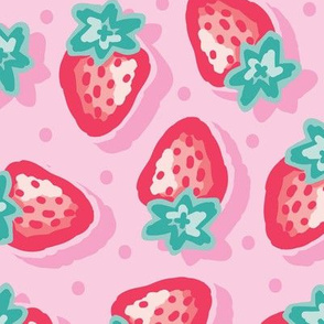 Large_Strawberries_Light and colourful_Laura Wayne Design