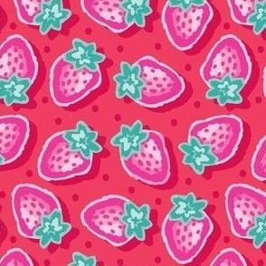 Medium_Strawberries_Bright and colourful_Laura Wayne Design