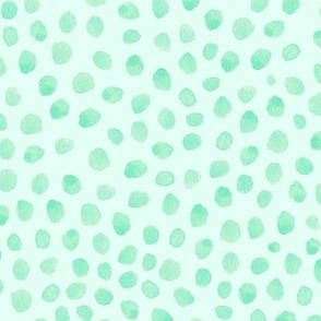 green watercolor spots