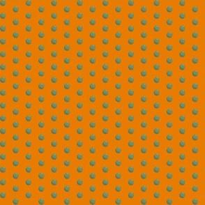 Peas on deep orange