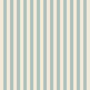 Sage and Cream Stripes