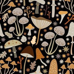 Mid Century Modern Mushrooms