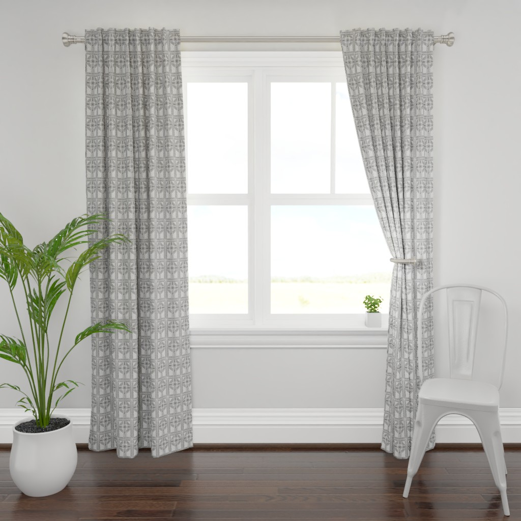 Plymouth Curtain Panel featuring Celtic Cross by flyingfish