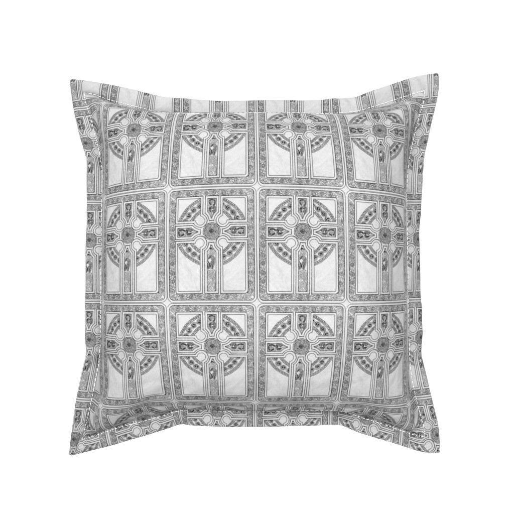 Serama Throw Pillow featuring Celtic Cross by flyingfish