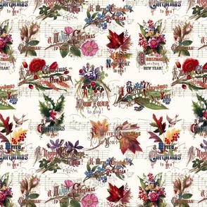 Vintage Christmas Flowers & Music