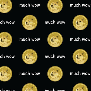 Dogecoin Much Wow Black - Large (DOGE Collection)