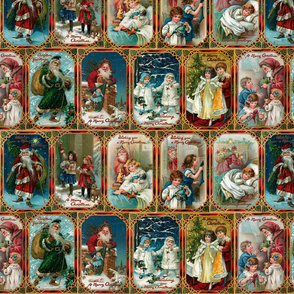 Vintage Christmas Card Collage