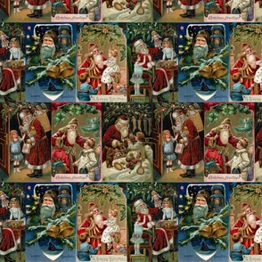 Vintage Father Christmas Collage