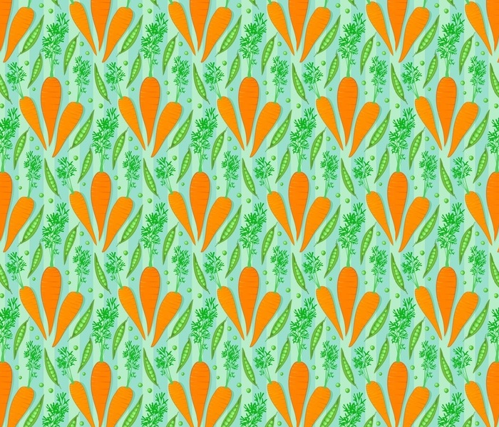 carrots and peas - retro colors