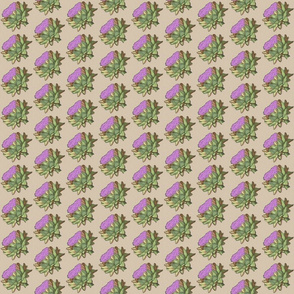 hand-drawn purple artichokes – small