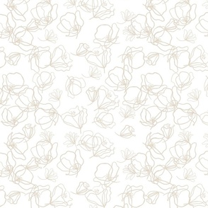 Crowded - light beige over white