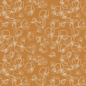 Crowded - beige over rust
