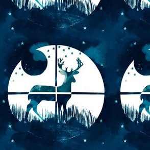 Deer Hunter Target Blue and White Camo, 6 inch block