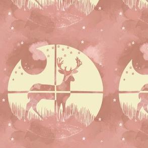 Deer Hunter Target Pink and Cream Camo, 6 inch block