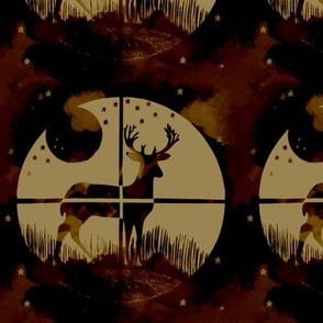Deer Hunter Target Red and Cream Camo, 6 inch block