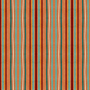 Wobbly crackled hand drawn stripes terracotta small