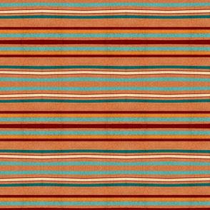 Wonky terracotta crackled horizontal stripes